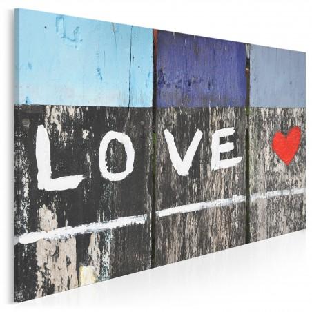 Drogowskaz miłości - zdjęcie na płótnie - 120x80 cm