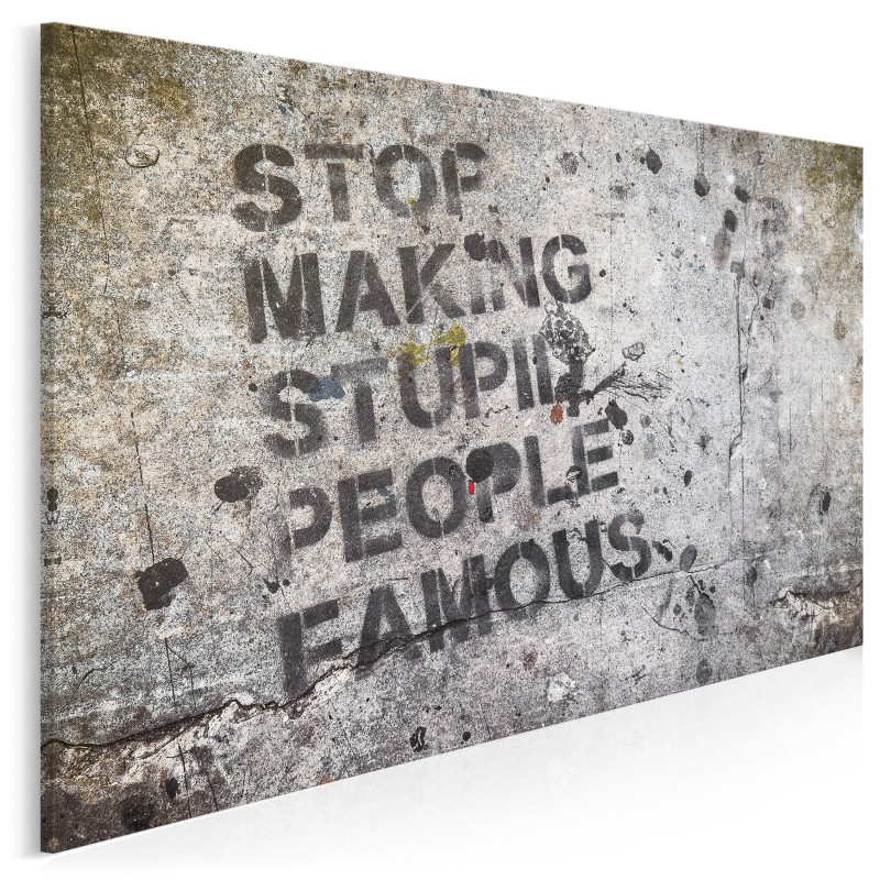 Stop making stupid people famous - fotoobraz do salonu