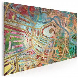 Wrocławski labirynt - nowoczesny obraz na płótnie - 120x80 cm