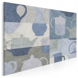 Ceramiczna forma - nowoczesny obraz do kuchni - 120x80 cm