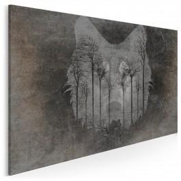 Wilcze echo - nowoczesny obraz do sypialni - 120x80 cm