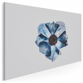 Błękitne objawienie - nowoczesny obraz na płótnie - 120x80 cm