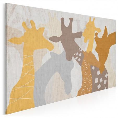 Żyrafa u fotografa - nowoczesny obraz na płótnie - 120x80 cm