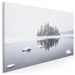 Śnieżna osada - zdjęcie na płótnie