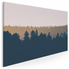 Dziki las - nowoczesny obraz na płótnie - 120x80 cm