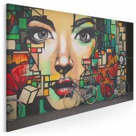 Witraże myśli - nowoczesny obraz na płótnie - 120x80 cm