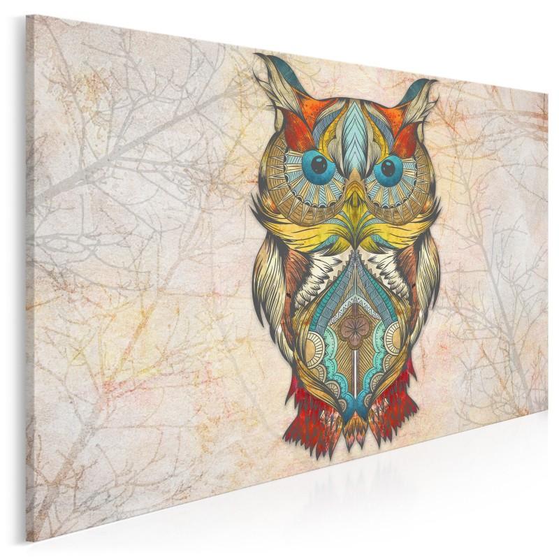 Leśne mądrości - nowoczesny obraz na płótnie - 120x80 cm