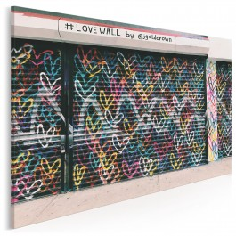 Love wall - zdjęcie na płótnie - 120x80 cm