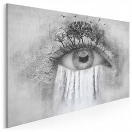 Wodospad łez - nowoczesny obraz do sypialni - 120x80 cm