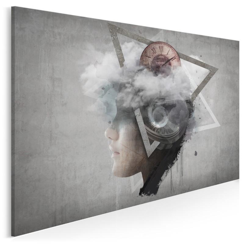 Wehikuł wyobraźni - nowoczesny obraz na płótnie - 120x80 cm