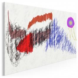 Dziecięca wrażliwość - nowoczesny obraz na płótnie - 120x80 cm