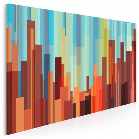 Starcie żywiołów - nowoczesny obraz na płótnie - 120x80 cm