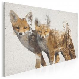 Rudozłota brać - nowoczesny obraz na płótnie - 120x80 cm