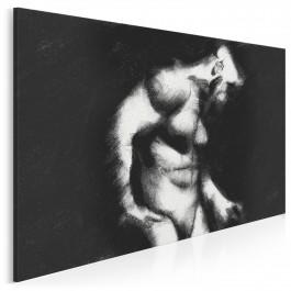 Studium męskości - nowoczesny obraz do sypialni - 120x80 cm