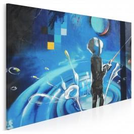 Wirtualna rzeczywistość - nowoczesny obraz na płótnie - 120x80 cm