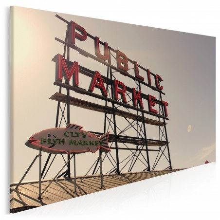 Public market - nowoczesny obraz na płótnie - 120x80 cm
