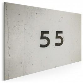 Numer 55 - nowoczesny obraz na płótnie - 120x80 cm