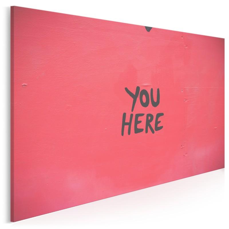 You here - fotografia na płótnie