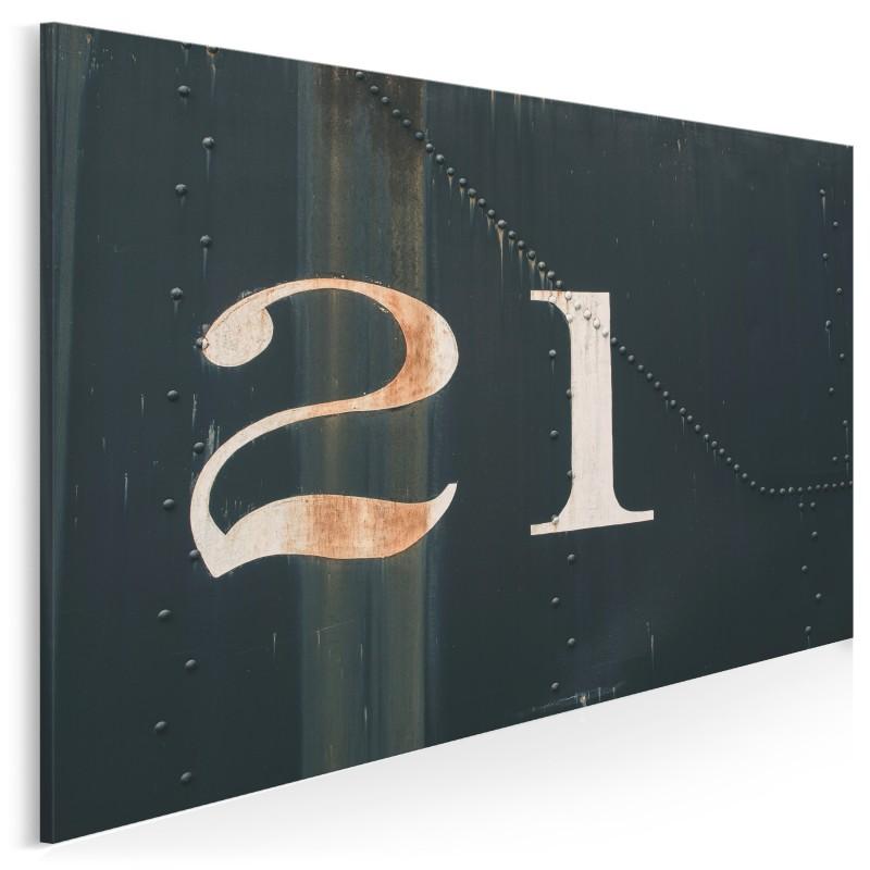 Numer 21 - zdjęcie na płótnie