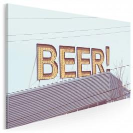 Beer! - nowoczesny obraz na płótnie