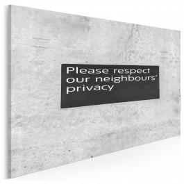 Respect privacy - fotografia na płótnie