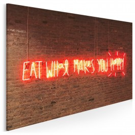 Eat what makes you happy - fotoobraz na płótnie - 120x80 cm