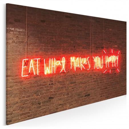 Eat what makes you happy - fotoobraz na płótnie - 120x80 cm