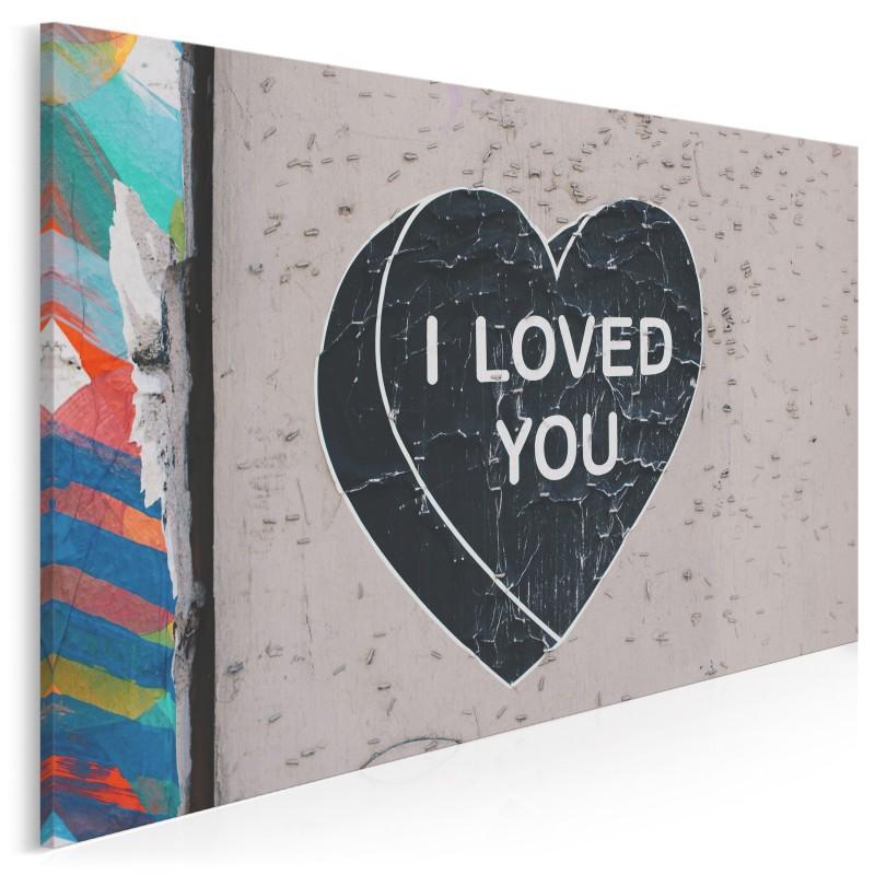 I loved you - nowoczesny obraz na płótnie - 120x80 cm