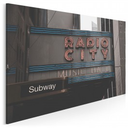 Radio city - fotoobraz do salonu - 120x80 cm