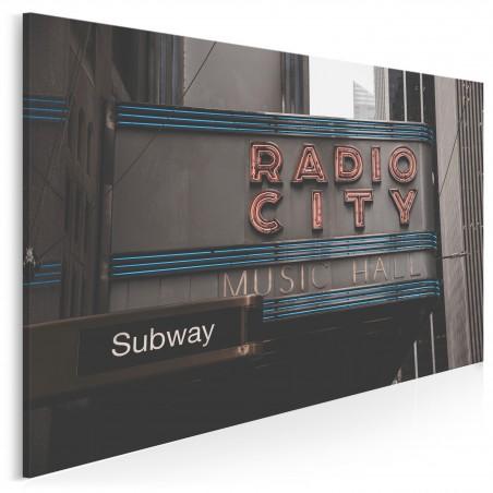 Radio city - fotoobraz do salonu - 120x80 cm