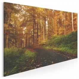 Wrześniowy pejzaż - nowoczesny obraz na płótnie - 120x80 cm