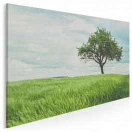 Wirtuozja zieleni - nowoczesny obraz na płótnie - 120x80 cm