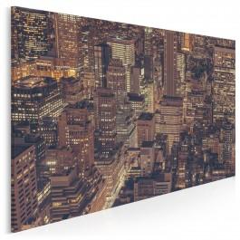 Nocne życie miasta - zdjęcie na płótnie - 120x80 cm