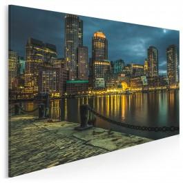 Nocna panorama - nowoczesny obraz na płótnie - 120x80 cm