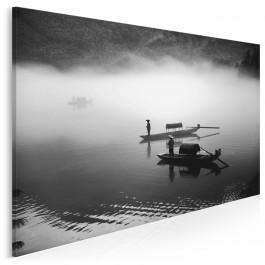 Połów o świcie - zdjęcie na płótnie - 120x80 cm
