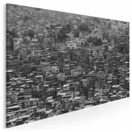 Miasto na wzgórzu - fotoobraz na płótnie