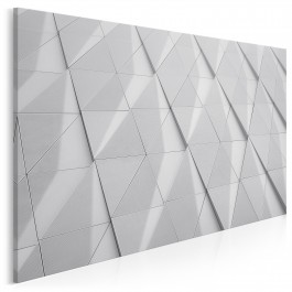 Symetria bieli - fotoobraz do salonu
