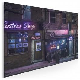 Neonowe ulice - fotografia na płótnie - 120x80 cm