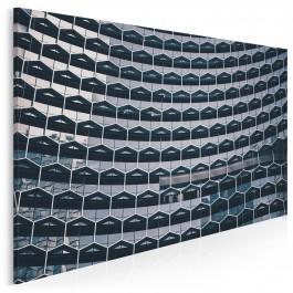 Heksagonalny kompleks - fotoobraz do sypialni - 120x80 cm