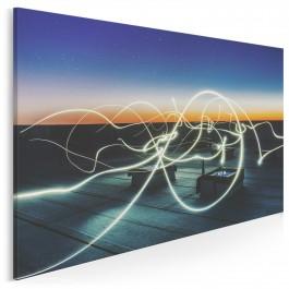 Gra świateł - fotoobraz na płótnie - 120x80 cm