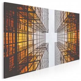 Ciekłe i stałe - nowoczesny obraz na płótnie - 120x80 cm