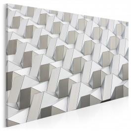 Pattern w bieli - zdjęcie na płótnie - 120x80 cm