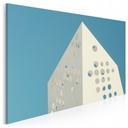 Kod architektoniczny - nowoczesny obraz na płótnie - 120x80 cm