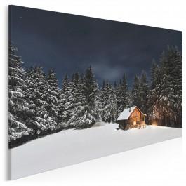Leśny spokój - nowoczesny obraz na płótnie - 120x80 cm