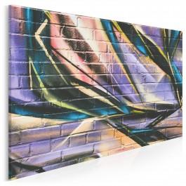 Ścienne graffiti - fotoobraz do sypialni