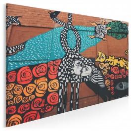 Sztuka ulicy - fotoobraz na płótnie - 120x80 cm