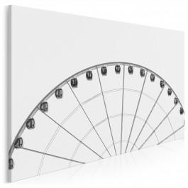 Koło widokowe - nowoczesny obraz na płótnie - 120x80 cm