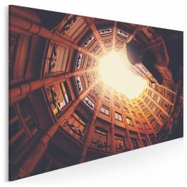 W twierdzy murów - nowoczesny obraz na płótnie - 120x80 cm