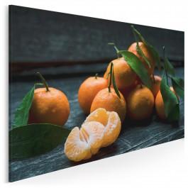 Słodkie mandarynki - fotoobraz do kuchni - 120x80 cm