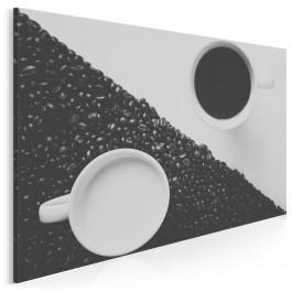 Kawa z mlekiem - fotoobraz do kuchni - 120x80 cm